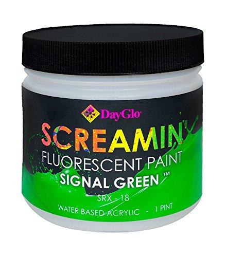 DayGlo Water Based Screamin Fluorescent Paint (Pint, Signal Green, SRX-18)