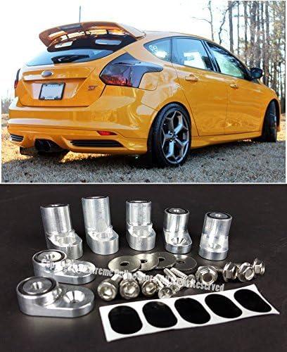 Ford Fiesta ST Hatchback VXMOTOR Rear Wing Spoiler Riser Extender Kit Silver for 2014