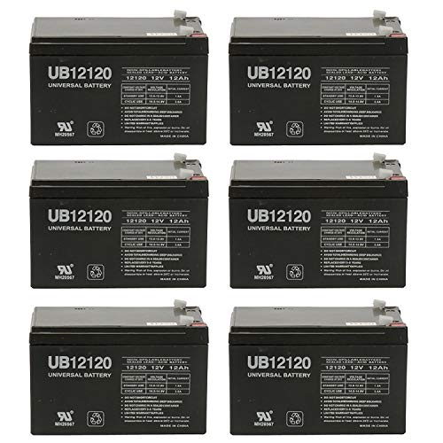 Universal Power Group 12V 12AH Battery Replaces Invacare L-4 Lynx 4 Portable Scooter - 6 Pack ()