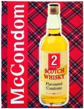 I Luv LTD, I Luv LTD McCONDOM Pack of 2 Whisky Flavoured Scottish ...