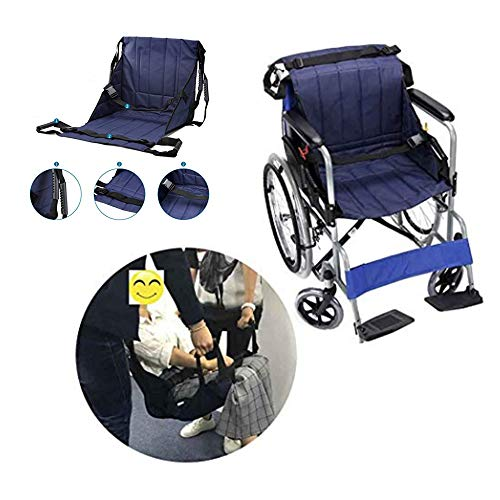 Medical Transfer Lift Sling,Two-Person Wheelchair Mobility Transfer System with Heavy Duty Belts,Nursing Aid for Transfers, Secure & Safe Lift for Elderly,Bedridden,Disabled by FMJI