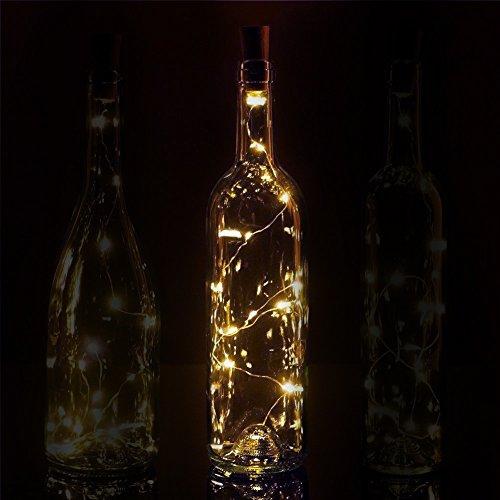 Fantado 20-LED Warm White Cork Wine Bottle Lamp Fairy String Light Stopper, 38-Inch by PaperLanternStore