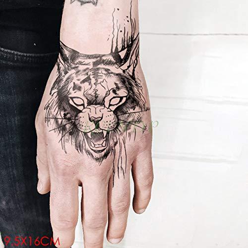 ljmljm 5pcs Tatuaje Impermeable Etiqueta engomada de la ...