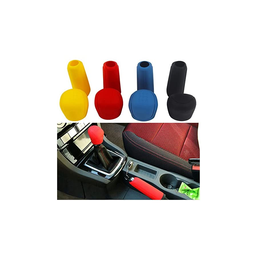 Braceus Car Styling Handbrake Grips Interior Shift Collar Silicone Gear Knob Cover Tool