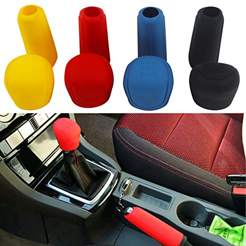 Braceus Car Styling Handbrake Grips Interior Shift Collar Silicone Gear Knob Cover Tool