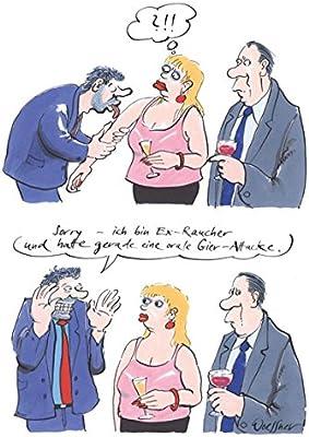 Postkarte A6 14493 Orale Gier Attacke Von Inkognito Kunstler Freimut Woessner Satire Cartoons Amazon De Burobedarf Schreibwaren