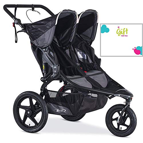 BOB Revolution Pro Duallie 2018 Jogging Stroller Black with Customized Gift Card