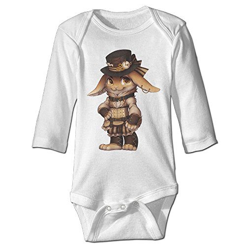 Steampunk Girl Tween Costumes (Steampunk Rabbit Baby Long Sleeves Climbing Clothes Unisex Triangle Bodysuit Size 6 M White Stylish)
