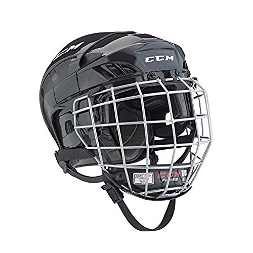 CCM FitLite 40 Hockey Helmet Combo, Medium, Black