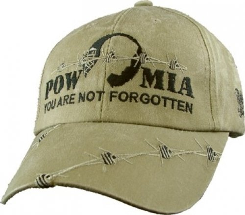 (POW MIA Tonal Color Logo Barbed Wire Embroidered)