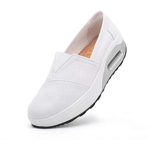 Amazon.com: Exing Zapatos de mujer de lona nueva, zapatos de ...