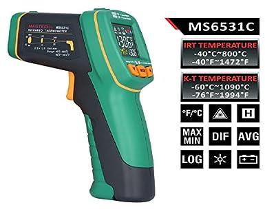 Amazon.com: MASTECH MS6531C D:S 12:1 - Termómetro digital de ...