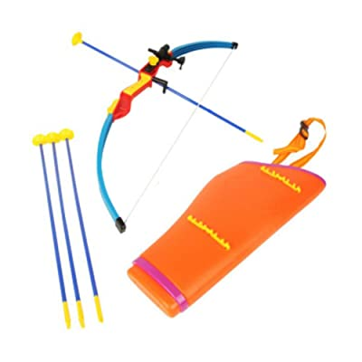 George Jimmy Toy Bow & Arrow Set with Suction Cup Shooting Target Archery: Toys & Games