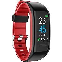 YOMYM Fitness Tracker HR, reloj Activity Tracker con monitor de ritmo cardíaco, banda de fitness inteligente y resistente al agua con contador de pasos, contador de calorías, reloj podómetro para niños, mujeres y hombres