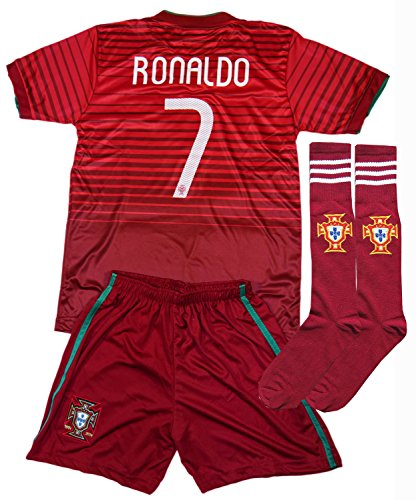 2016/2017 Portugal Cristiano Ronaldo #7 Home Football Soc...