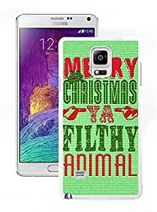Diy Merry Christmas White Samsung Galaxy Note 4 Case 21
