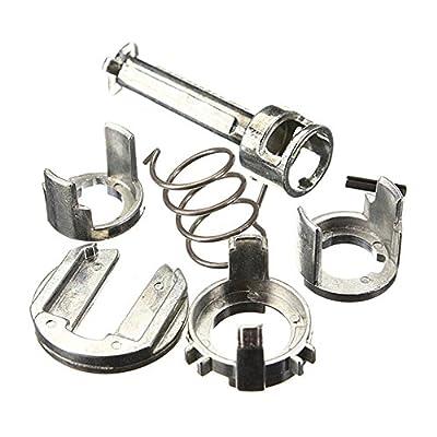 Baynne Door Lock Cylinder Barrel Repair Kit for BMW E46 3 Series 323 325 328 330 M3(Color silver)