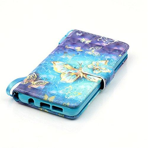 ANNNWZZD Funda Lujo Slim de piel sintética con tapa magnética Tapa de Cuero de La PU Case de la Cartera con Ranuras para Samsung Galaxy S7 Edge con ranura para tarjeta y función de soporte, piel sinté A05