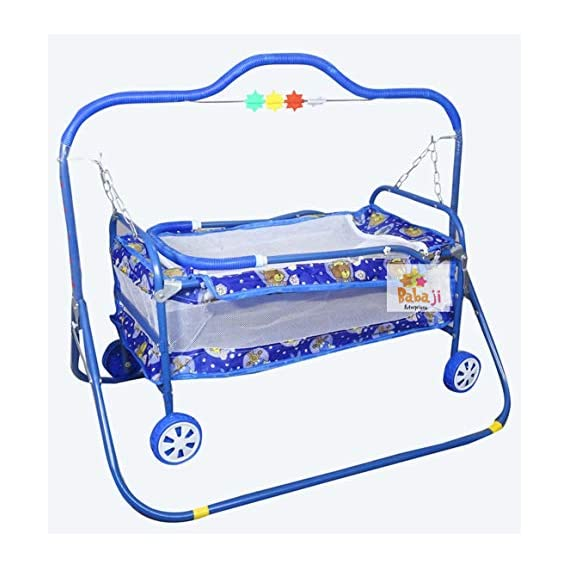 baba ji enterprises Kids jhulla for Baby/New Born Baby/Cradle Mosquito net with Swing/palna Kids for Baby/jhula Babies