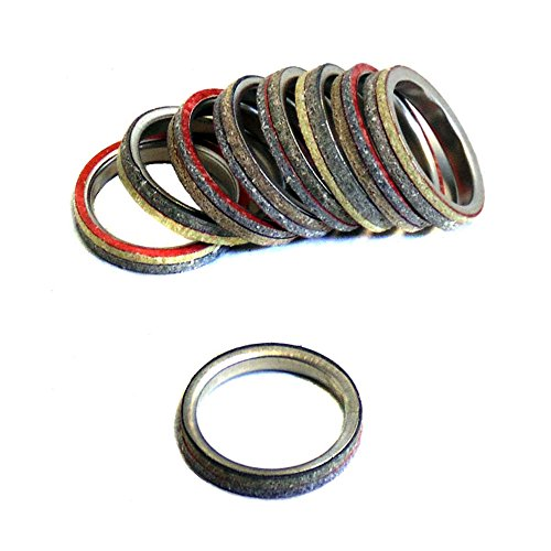 Muffler Exhaust Pipe Seal Gasket Ring for GY6 QMB139 4-Stroke Engines (Pack of 10)