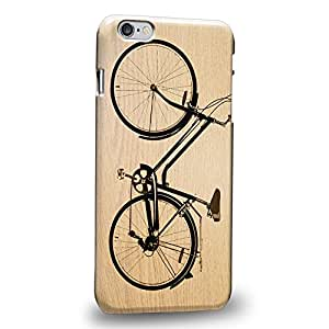 """Case88 Premium Designs Art Classic Retro Bicycle Series Wooden Black Bicycle Protective Snap-on Hard Back Case Cover for Apple iPhone 6 Plus 5.5"""""""