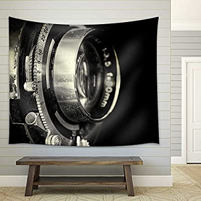 Gorgeous Picture, Quality Creation, Vintage Camera Lens Closeup Fabric Wall