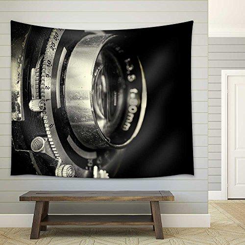 Vintage Camera Lens Closeup Fabric Wall