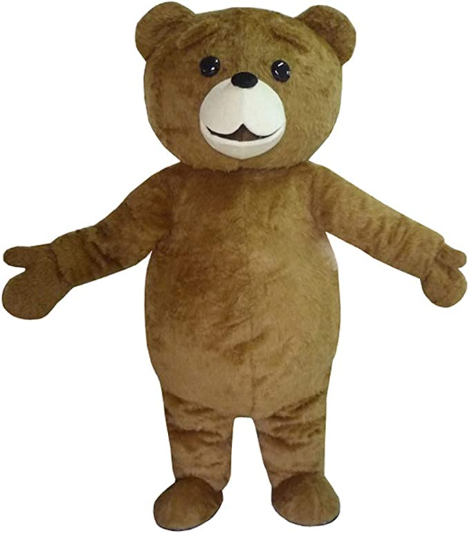 Christmas Teddy Bear Mascot Costume Suits Cartoon Fancy Dress Adults Size Unisex