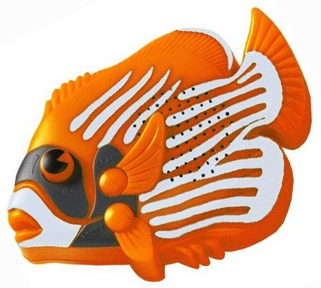 BABY Angel Fish FM Radio (Auto Scan 88-108MHz) Mk 2 - Batteries Supplied - by SPL (Baby, Orange) AFR005 Mk 2 - Inc Batteries