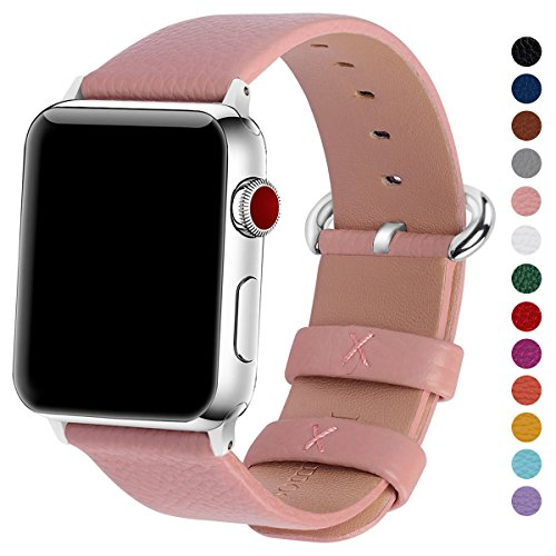 Fullmosa Compatible Apple Watch Bands 38mm 40mm 42mm 44mm Women Calf Leather Compatible iWatch Band Compatible iWatch Series 4 Series 3 Series 2 ...