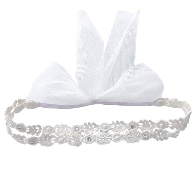 304d4a944f7442 JUNGEN Baby Stirnband Haarbänder Mädchen Blumen Haar-Zusätze Elastische  Spitze Haarband Doppellinie Kopf Dekoration für
