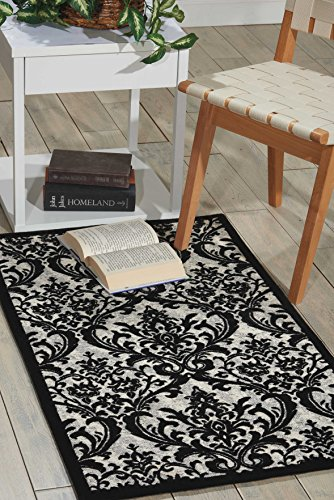 Nourison Damask (DAS02) Contemporary Area Rug, 2 Feet 3 Inches by 3 Feet 9 Inches (2'3