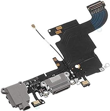 OcioDual Flex de Carga Conector Dock Lightning Jack Microfono Board para iPhone 6S Gris