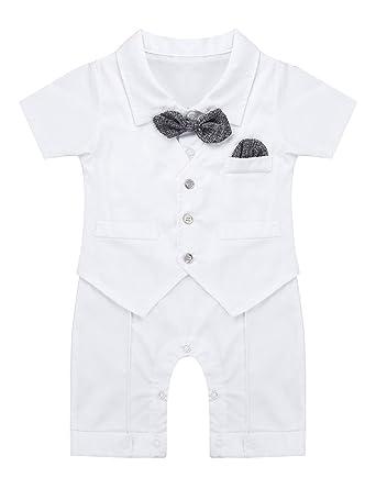 Msemis Baby Jungen Strampler Smoking Overall Taufe Kleidung