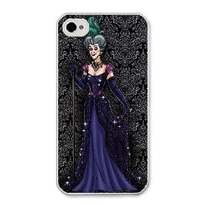 Disney Cinderella Character Lady Tremaine B8X6MJ8Y Caso funda iPhone 4 4s Caso funda del teléfono celular blanco