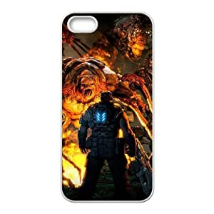 iPhone 5,5S Phone Case White Gears of War IH4490076
