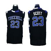 Nathan Scott 23 One Tree Hill Ravens Movie Basketball Black Stitched Jersey (X-Large)