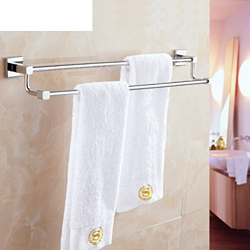 hot sale 2017 Brass double bar Towel rack/Towel shelf /Bathroom accessories/Bathroom towel-D
