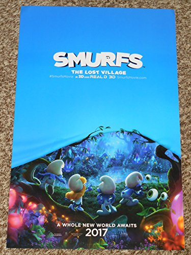 Smurfs: The Lost Village Promo Movie Poster