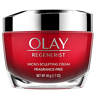 Olay Face Moisturizer with Collagen Peptides, Microsculpting Cream Fragrance Free, 1.7 fl oz