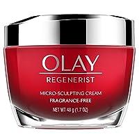 Crema hidratante facial antienvejecimiento de Olay Regenerist, micro esculpido y sin perfume 1.7 onzas (el embalaje puede variar)