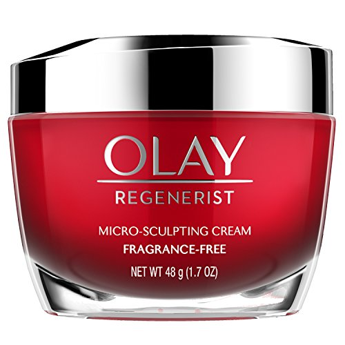 Anti-Aging Face Moisturizer Cream by Olay Regenerist, Micro-Sculpting & Fragrance-Free 1.7 Ounces (packaging may vary) (Best Sunscreen To Use Under Makeup)