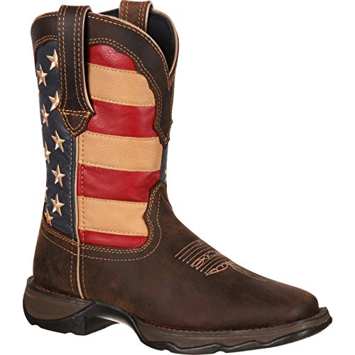 (Durango Women's RD4414 Western Boot, Brown/Union Flag, 6.5 M US)