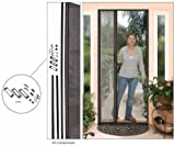 Retractable Screen Door Kit, Euro-Style, 96' Height, Bronze