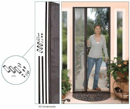 Retractable Screen Door Kit, Euro-Style, 96'' Height, Bronze by C.R. LAURENCE (Image #1)