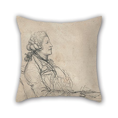 Slimmingpiggy Oil Painting Richard Cosway - Profile Study Of A Young Man Pillow Cases 16 X 16 Inches / 40 By 40 Cm Best Choice For Father,kitchen,drawing Room,boys,bedding,wife With Double (Halloween Costume Stores San Jose)