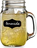 Circleware 66959 Yorkshire Mason Jar Mugs, 17.5 oz, Chalkboard For Sale