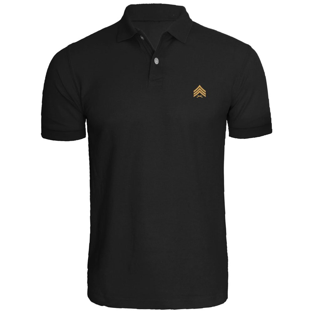 Loo Show Mens Sergeant Sgt Rank Marines Embroidered Polo Shirts Men Shirts