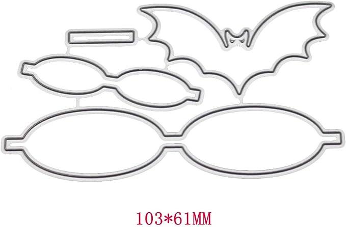 Runrain Bats - Plantillas de metal con forma de lazo, para ...