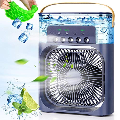 Portable Air Conditioner Fan,900ML Personal Air Conditioner with Ice Tray,5in1 Timming Evaporative Air Cooler,Cooling…